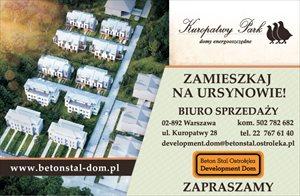 Nowe domy Kuropatwy Park - domy energooszczędne na Ursynowie