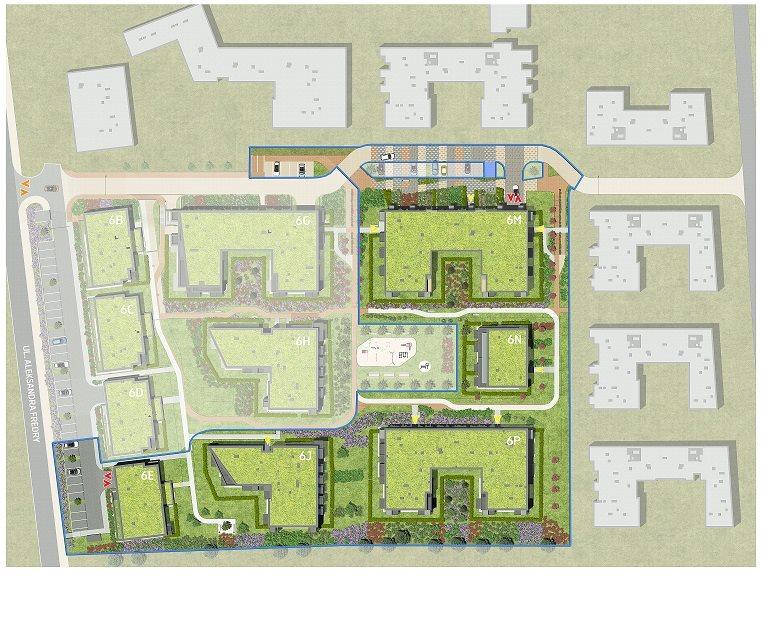 Nowe mieszkanie trzypokojowe Fredry 6 Kraków, Krakowskie Łagiewniki, Fredry 6  53m2 Foto 10