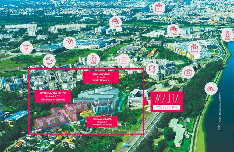 Nowe mieszkanie trzypokojowe MALTA Wołkowyska III Poznań, Ul. Wołkowyska  52m2 Foto 1