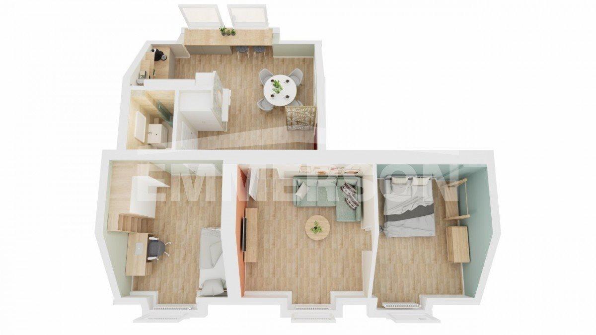 Mieszkanie trzypokojowe na sprzedaż Wrocław, Maślice, Północna  74m2 Foto 3