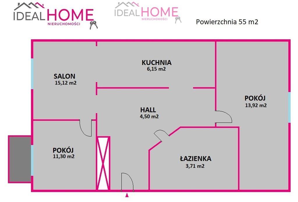 Mieszkanie trzypokojowe na sprzedaż Rzeszów, Strażacka  55m2 Foto 10