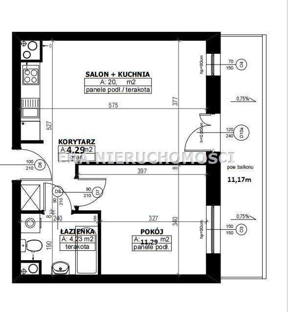 Mieszkanie dwupokojowe na sprzedaż Białystok, Wysoki Stoczek, al. Jana Pawła II  40m2 Foto 9