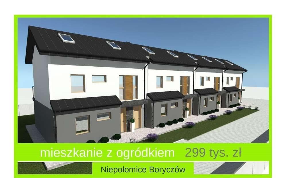 Mieszkanie trzypokojowe na sprzedaż Niepołomice  47m2 Foto 1
