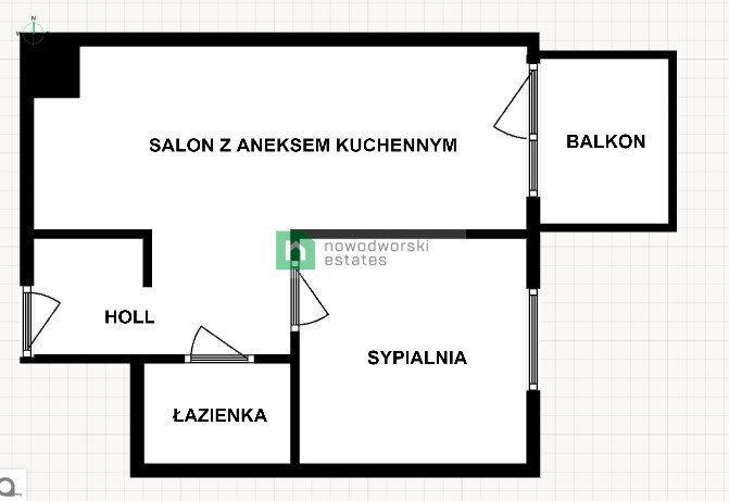 Mieszkanie dwupokojowe na wynajem Gdańsk, Letnica, Starowiejska  39m2 Foto 13