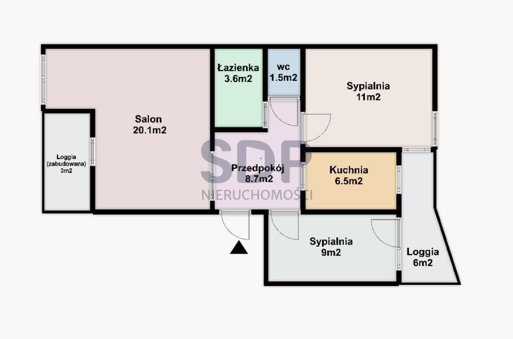 Mieszkanie trzypokojowe na sprzedaż Wrocław, Stare Miasto, Przedmieście Oławskie, ok. Kościuszki  59m2 Foto 3