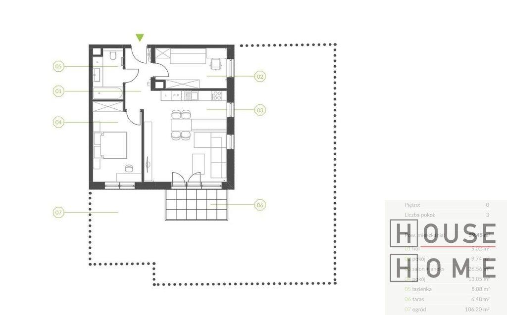 Mieszkanie trzypokojowe na sprzedaż Katowice, Piotrowice  59m2 Foto 2