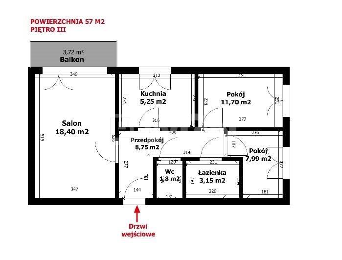 Mieszkanie trzypokojowe na sprzedaż Legnica, Piekary A, Warmińska  57m2 Foto 2
