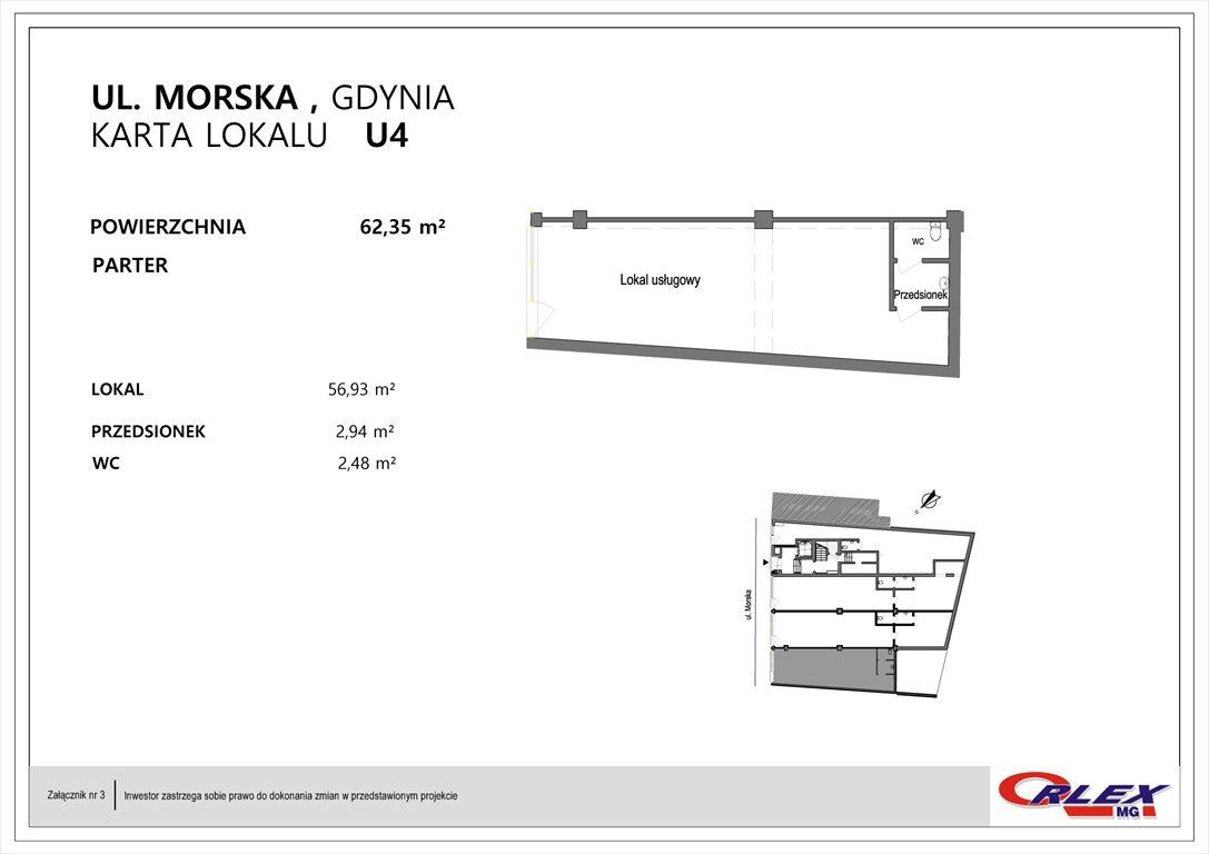 Lokal użytkowy na sprzedaż Gdynia, Działki Leśne, Morska 15  62m2 Foto 2