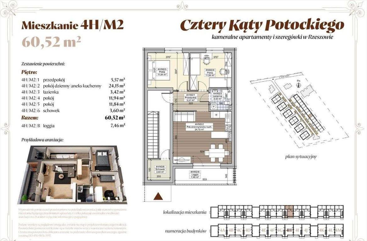 Dom na sprzedaż Rzeszów, ul. hr. alfreda potockiego  61m2 Foto 1