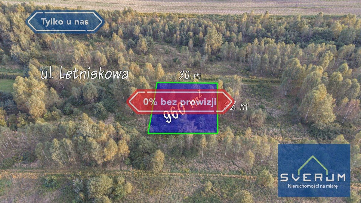 Działka budowlana na sprzedaż Łysiec, Letniskowa  960m2 Foto 1