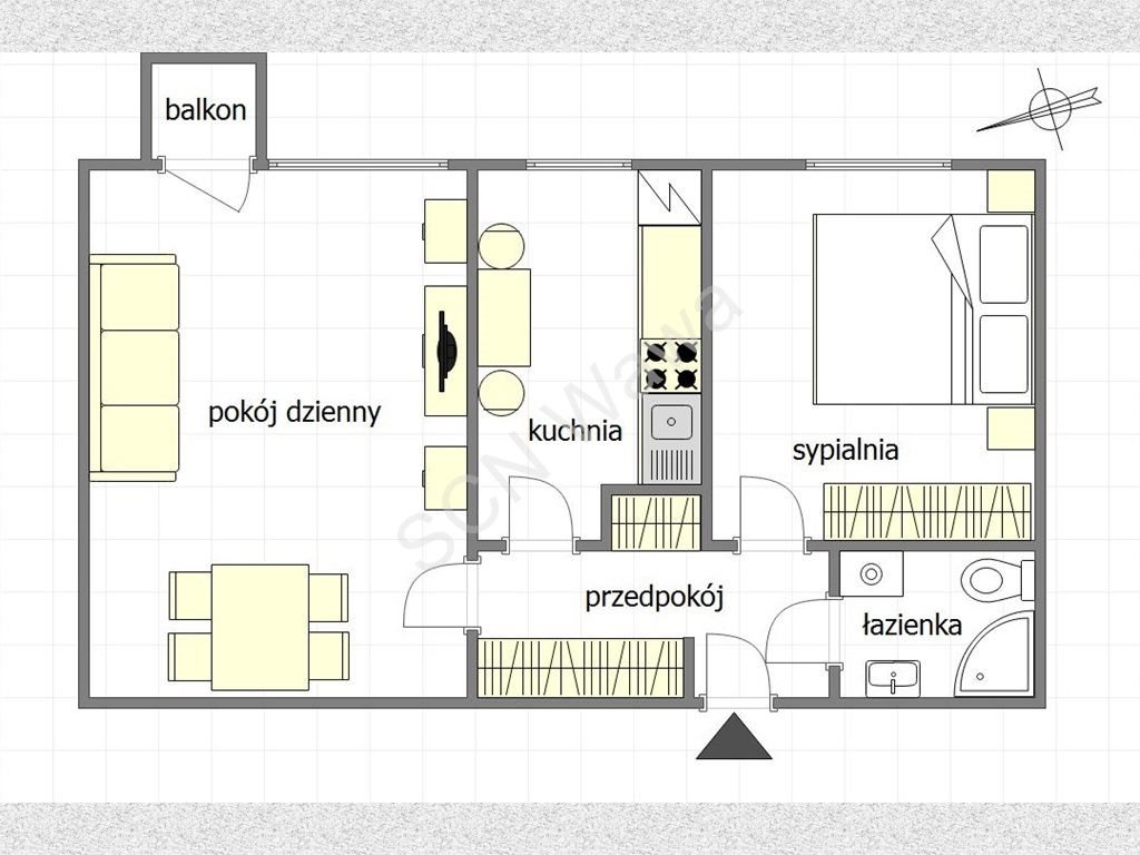 Mieszkanie dwupokojowe na sprzedaż Warszawa, Żoliborz, Włościańska  47m2 Foto 1