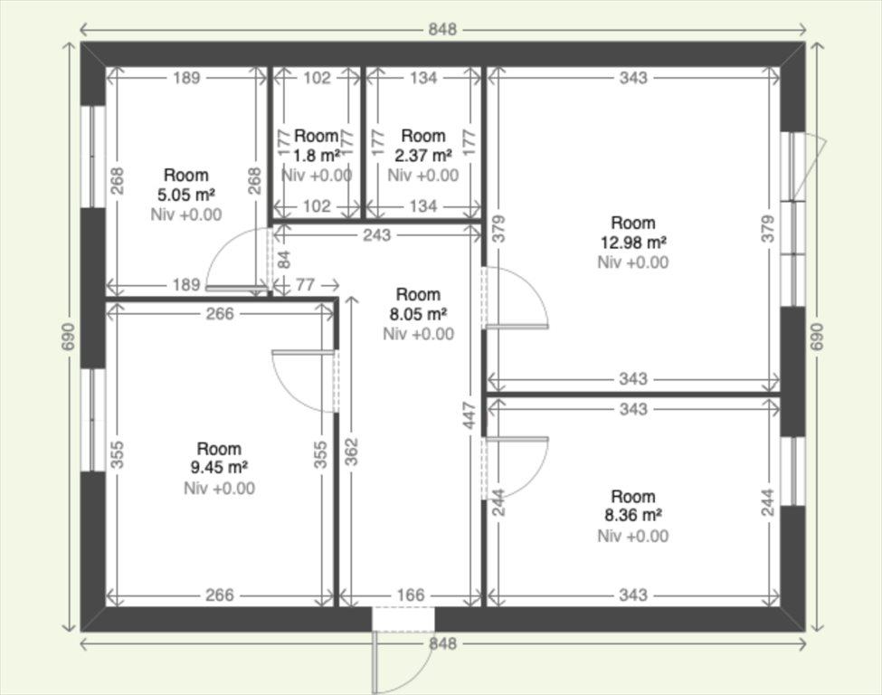 Mieszkanie trzypokojowe na sprzedaż Białystok, Centrum, Waszyngtona  48m2 Foto 1