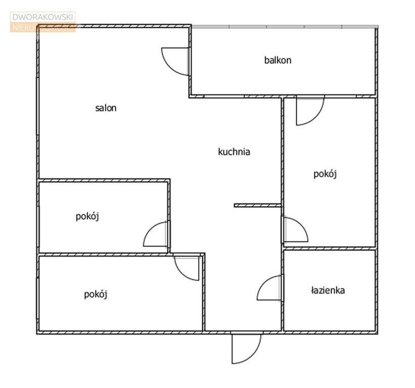 Mieszkanie czteropokojowe  na sprzedaż Wrocław, Psie Pole, Poleska  73m2 Foto 12
