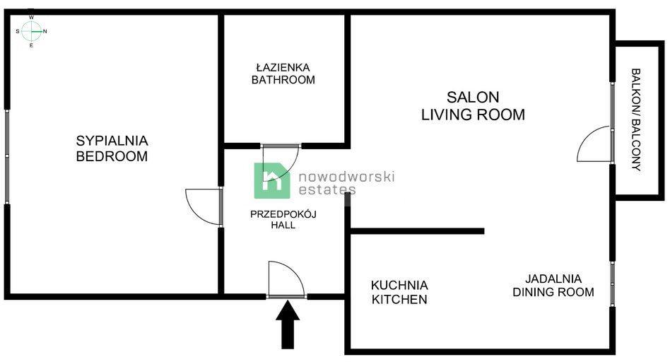 Mieszkanie dwupokojowe na sprzedaż Kraków, Prądnik Biały, Prądnik Biały, Kaczorówka  50m2 Foto 12
