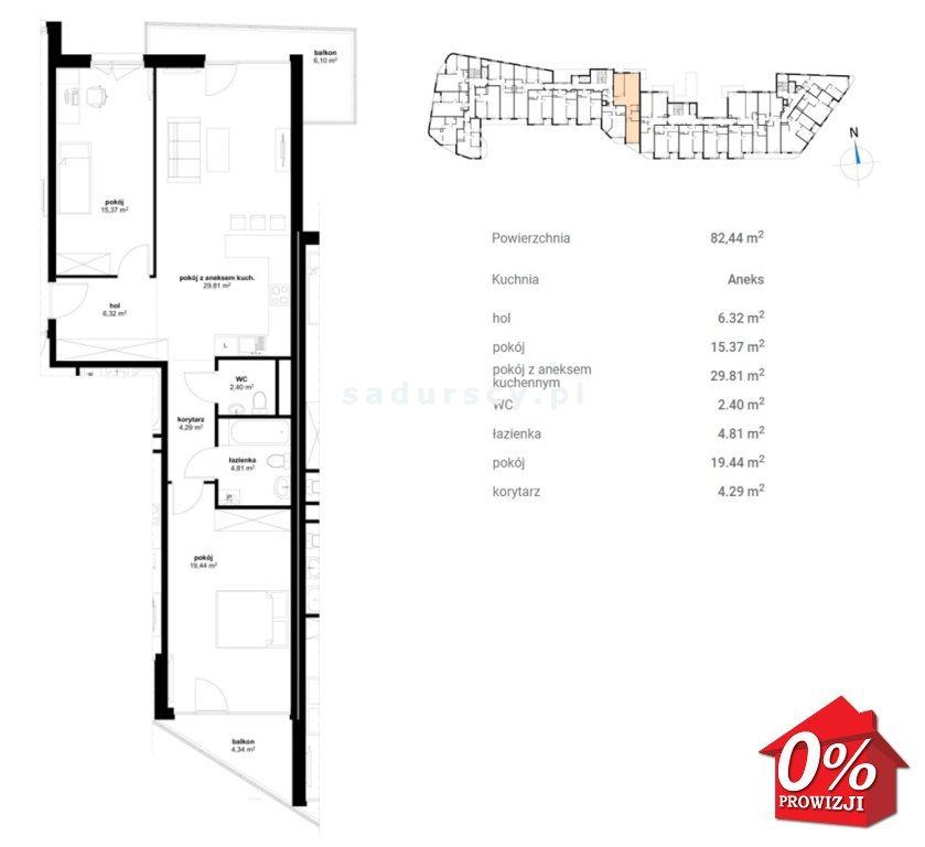 Mieszkanie trzypokojowe na sprzedaż Kraków, Prądnik Czerwony, Olsza, Lublańska - okolice  82m2 Foto 5