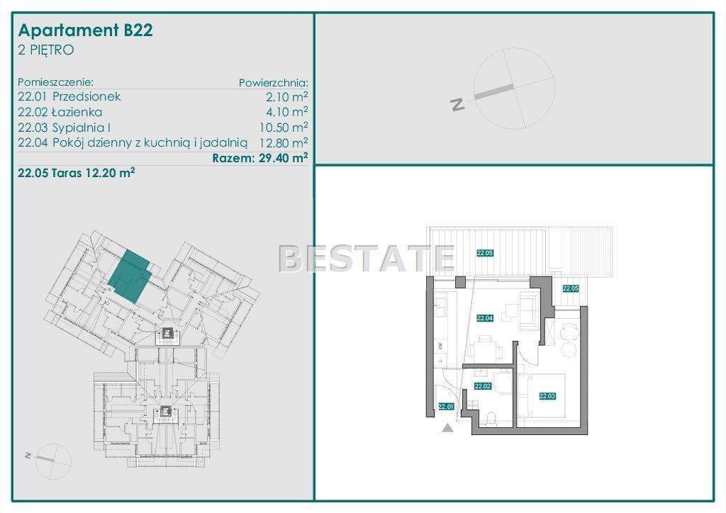 Mieszkanie dwupokojowe na sprzedaż Zakopane  29m2 Foto 10