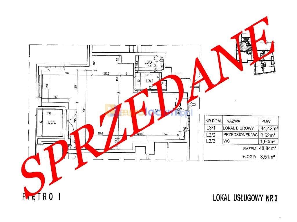 Lokal użytkowy na sprzedaż Kielce, Okrzei  49m2 Foto 1