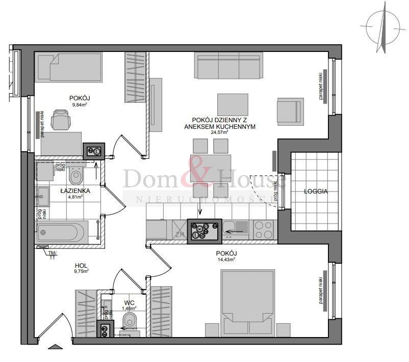 Mieszkanie trzypokojowe na sprzedaż Gdańsk, Wrzeszcz, Adama Mickiewicza  67m2 Foto 4