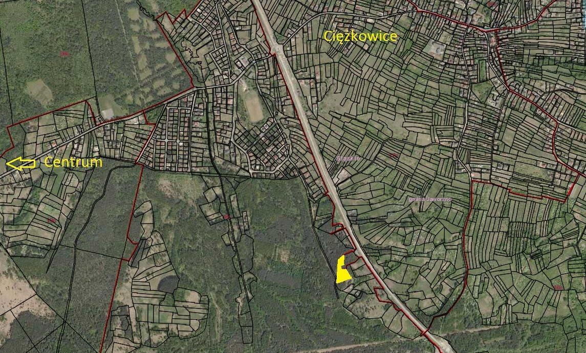 Działka leśna na sprzedaż Jaworzno, Ciężkowice, Chodkiewicza  3778m2 Foto 1