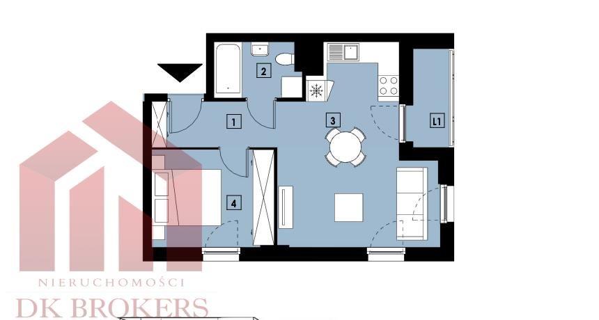 Mieszkanie dwupokojowe na sprzedaż Rzeszów, Słocina, Wieniawskiego  40m2 Foto 2