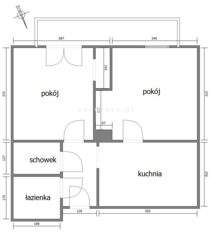 Mieszkanie dwupokojowe na sprzedaż Kraków, Łagiewniki-Borek Fałęcki, Borek Fałęcki, Ogrodniki  74m2 Foto 3