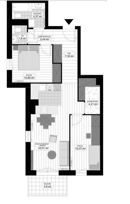 Mieszkanie trzypokojowe na sprzedaż Bydgoszcz, Glinki  66m2 Foto 7