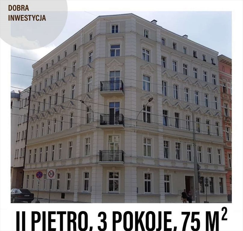 Mieszkanie trzypokojowe na sprzedaż Wrocław, Śródmieście, Słowiańska  75m2 Foto 1