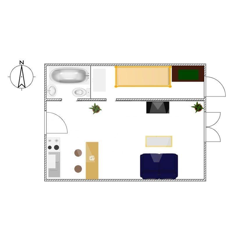 Mieszkanie dwupokojowe na sprzedaż Katowice, Piotrowice  36m2 Foto 1