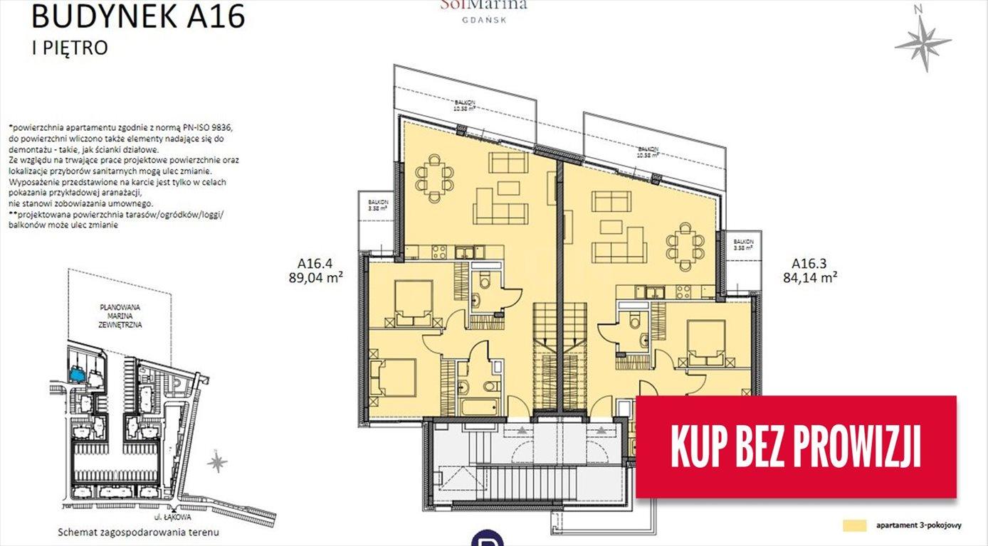 Mieszkanie trzypokojowe na sprzedaż Gdańsk, ul. Nadwiślańska  89m2 Foto 5