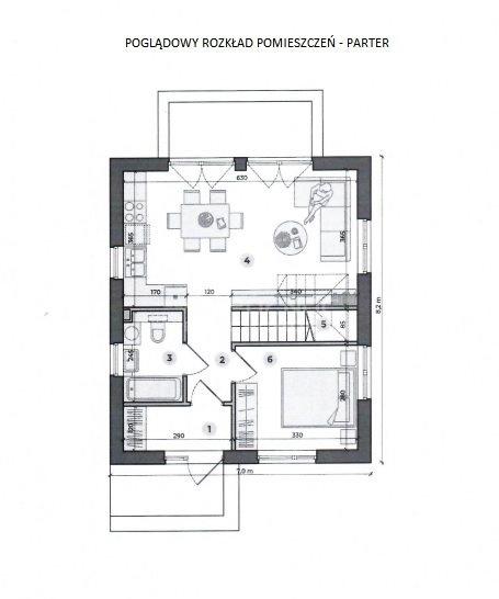 Dom na sprzedaż Pabianice, Nowy dom 88 m2 w stanie deweloperskim  88m2 Foto 7