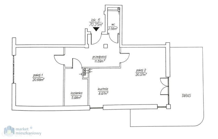 Mieszkanie dwupokojowe na sprzedaż Warszawa, Włochy, Włochy  70m2 Foto 10