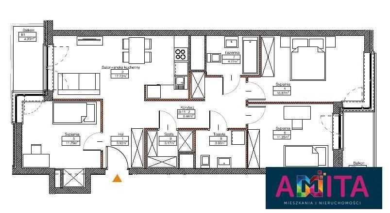 Mieszkanie czteropokojowe  na sprzedaż Warszawa, Mokotów Sadyba  80m2 Foto 2