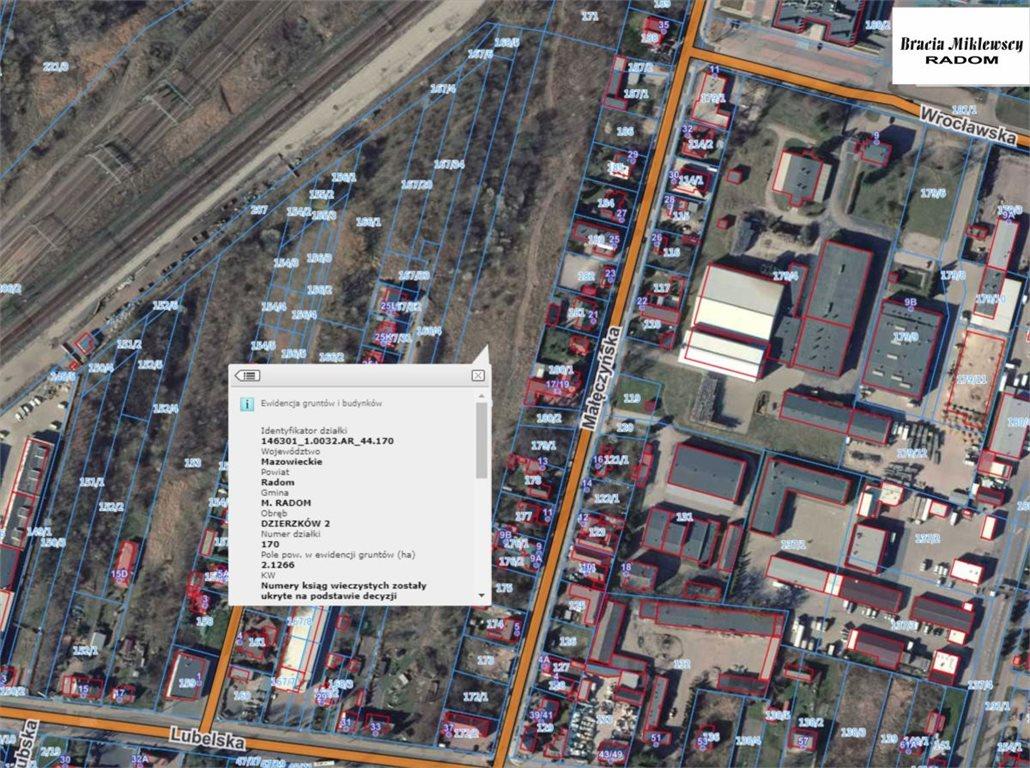 Działka inwestycyjna na sprzedaż Radom, Dzierzków, Lubelska  21266m2 Foto 2