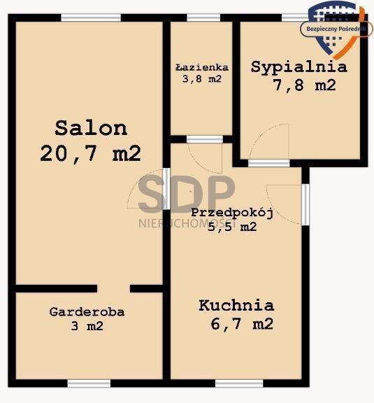 Mieszkanie dwupokojowe na sprzedaż Wrocław, Krzyki, Partynice, ok. Zwycięskiej  34m2 Foto 2