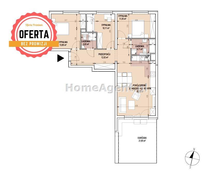 Mieszkanie czteropokojowe  na sprzedaż Kraków, Podgórze, Bonarka  84m2 Foto 5