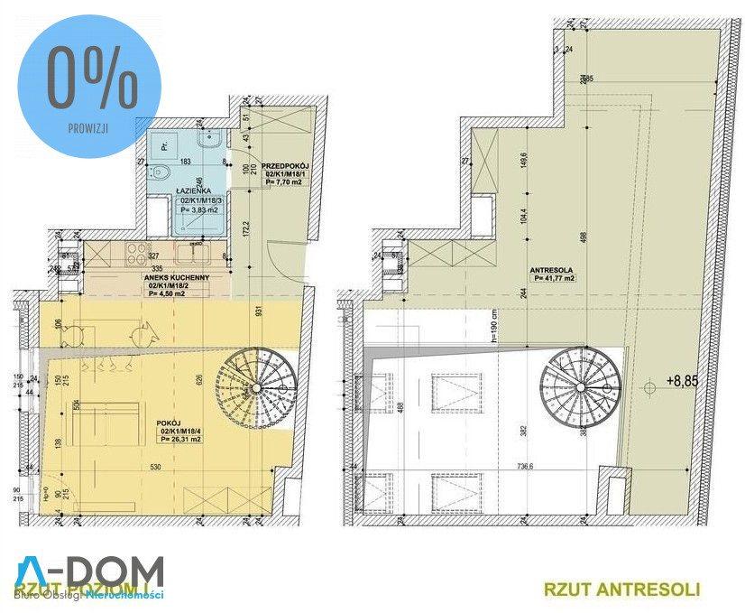 Mieszkanie dwupokojowe na sprzedaż Poznań, Stare Miasto  84m2 Foto 1