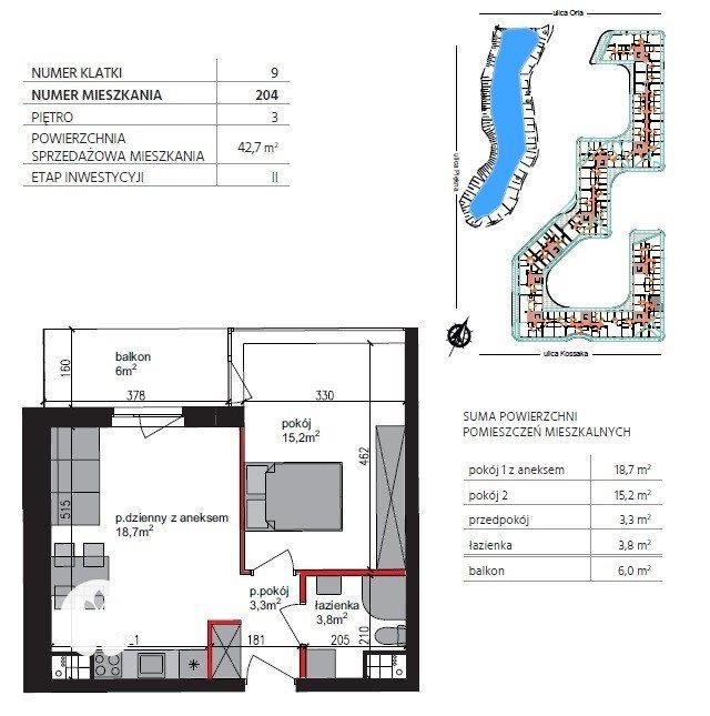 Mieszkanie dwupokojowe na sprzedaż Bydgoszcz, Szwederowo, Piękna  43m2 Foto 1