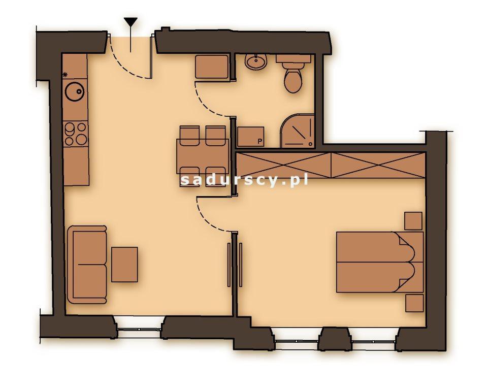 Mieszkanie dwupokojowe na sprzedaż Kraków, Podgórze, Stare Podgórze, Kalwaryjska  48m2 Foto 3