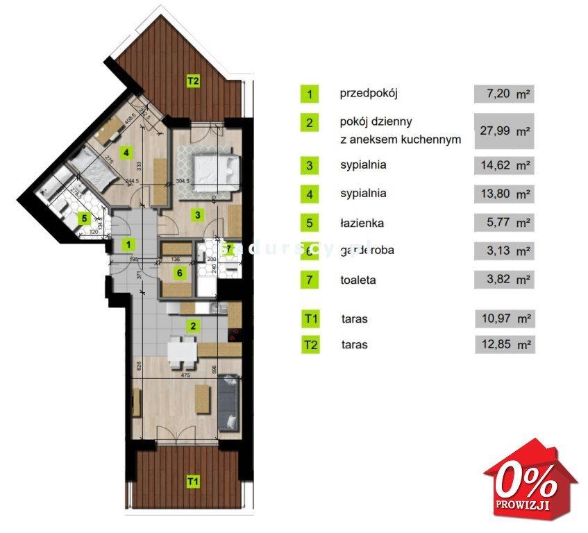 Mieszkanie trzypokojowe na sprzedaż Kraków, Grzegórzki, Grzegórzki, Mogilska - okolice  76m2 Foto 3