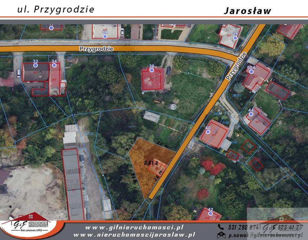 Działka budowlana na sprzedaż Jarosław, Przygrodzie  361m2 Foto 4