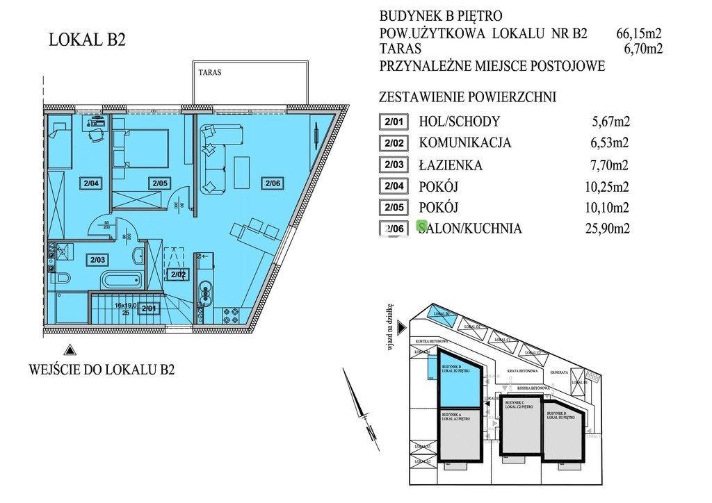 Mieszkanie trzypokojowe na sprzedaż Mierzyn, Pauliny  66m2 Foto 4
