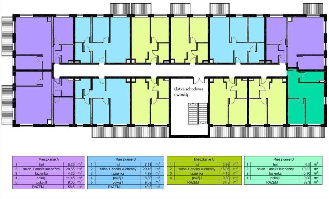 Mieszkanie dwupokojowe na sprzedaż Czechowice-Dziedzice, Legionów 124a  40m2 Foto 5