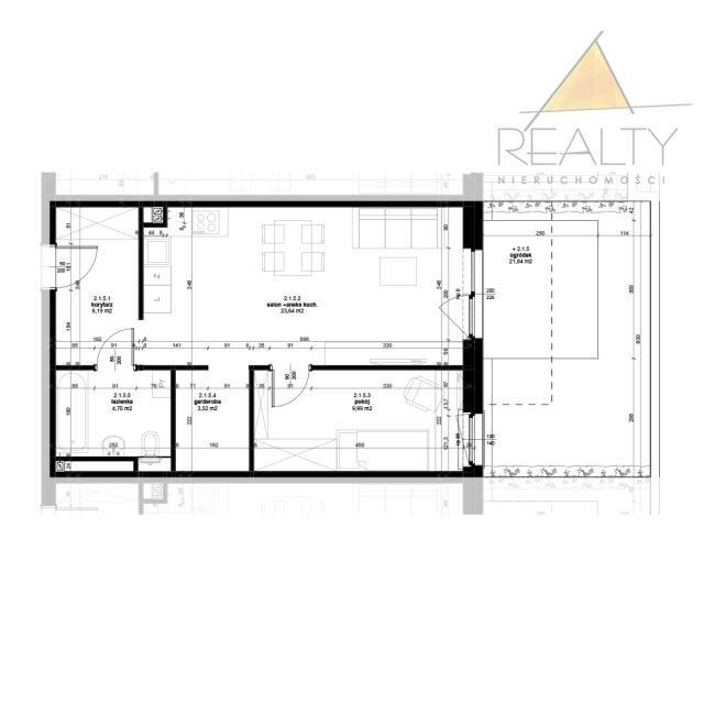 Mieszkanie dwupokojowe na sprzedaż Leszno, Ogrody  48m2 Foto 5