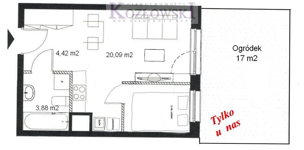 Mieszkanie dwupokojowe na wynajem Gdańsk, Jasień, Lawendowe Wzgórze  28m2 Foto 11