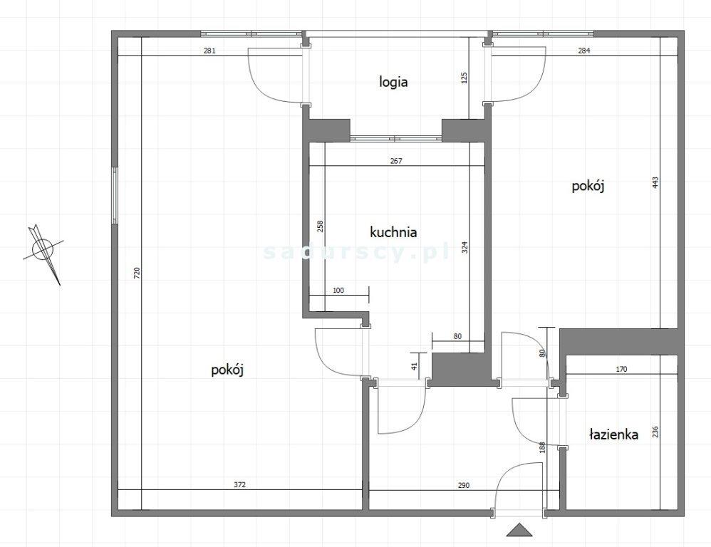Mieszkanie dwupokojowe na sprzedaż Kraków, Dębniki, Osiedle Podwawelskie, Dworska  56m2 Foto 3