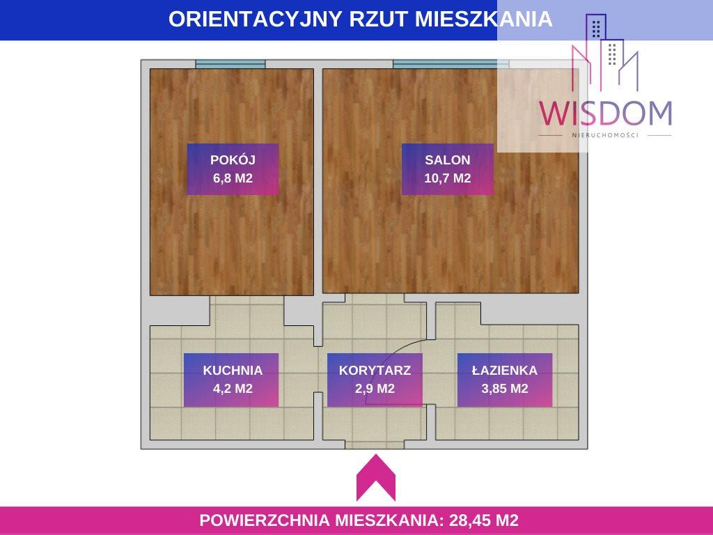 Mieszkanie dwupokojowe na sprzedaż Olsztyn, Sokola  28m2 Foto 8