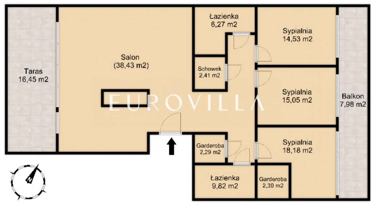 Mieszkanie czteropokojowe  na sprzedaż Warszawa, Wilanów, Sarmacka  119m2 Foto 11