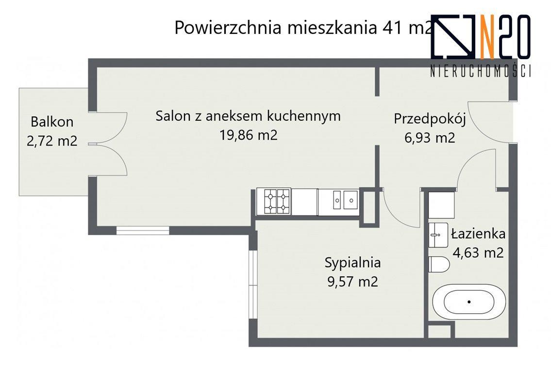 Mieszkanie dwupokojowe na sprzedaż Kraków, Bieżanów-Prokocim, Osiedle Złocień, Henryka i Karola Czeczów  41m2 Foto 4