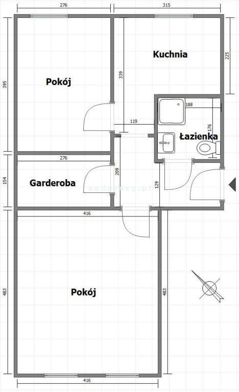 Mieszkanie dwupokojowe na sprzedaż Kraków, Stare Miasto, Kazimierz, św. Wawrzyńca  54m2 Foto 3
