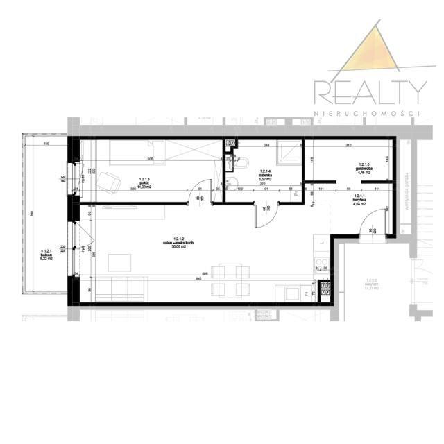 Mieszkanie dwupokojowe na sprzedaż Leszno, Ogrody  56m2 Foto 3